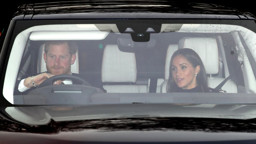Erwischt: Meghan & Harry fahren zum royalen Lunch der Queen!