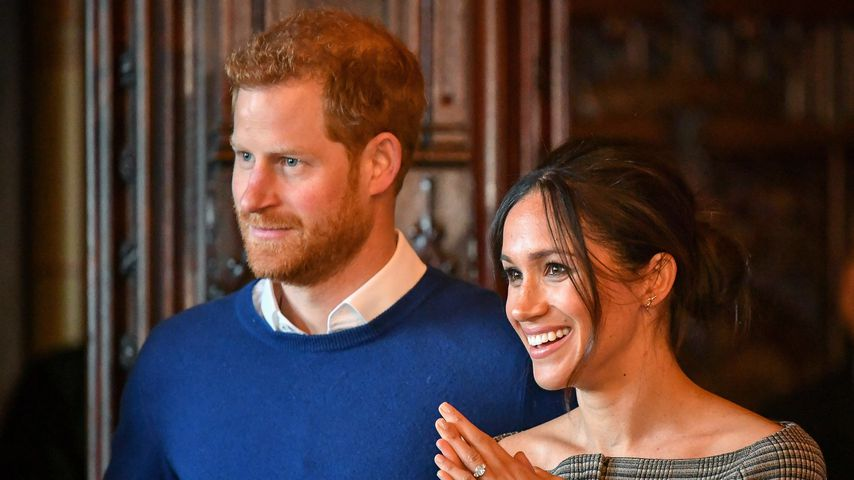 Prinz Harry und Meghan Markle in Cardiff