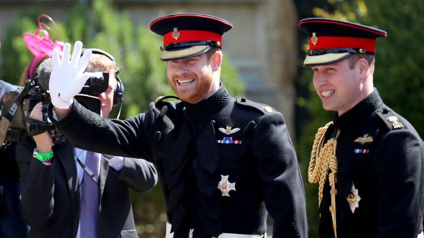 Prinz Harry und Prinz William auf seiner Hochzeit mit Meghan