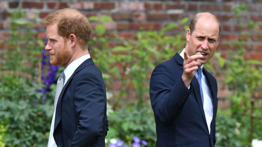 Prinz Harry und Prinz William im Kensington-Palast, 2021