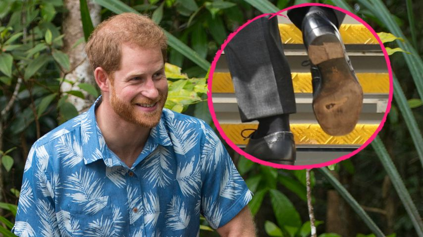 Zum dritten Mal: Prinz Harry trägt erneut kaputte Schuhe!