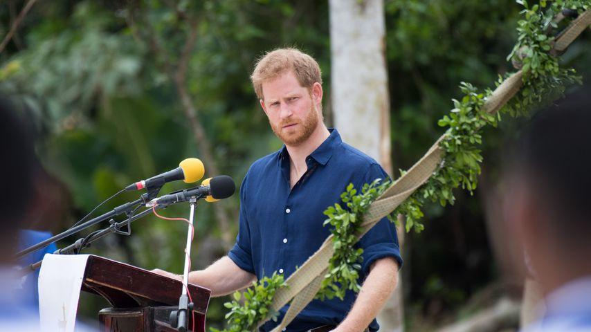 Prinz Harry während einer Rede auf Tonga