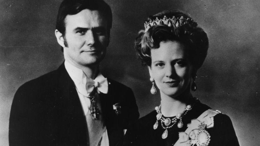 Prinz Henrik und Königin Margrethe von Dänemark im Jahr 1972