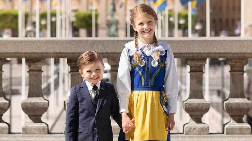 Oscar und Estelle von Schweden bezaubern in schickem Look