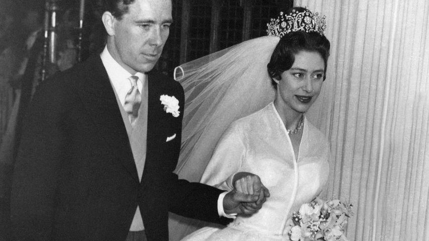 Antony Armstrong-Jones und Prinzessin Margaret bei ihrer Hochzeit 1960