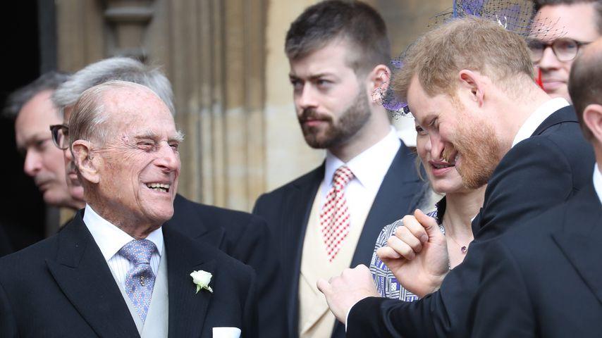 Prinz Philip und Prinz Harry
