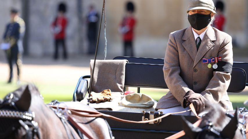 Prinz Philips Kutsche bei seiner Trauerfeier