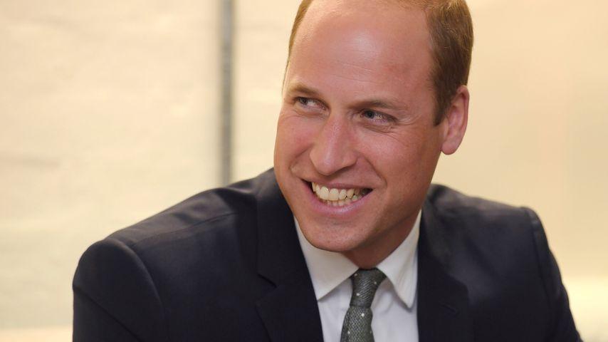 Royale Frisur: Prinz William scherzt über seine Halbglatze