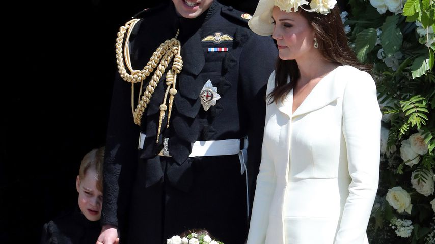 Prinz George, Prinz William, Herzogin Kate und Prinzessin Charlotte bei der Royal-Wedding
