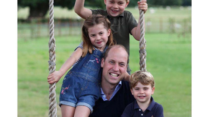 Prinz William mit seinen Kindern George, Charlotte und Louis