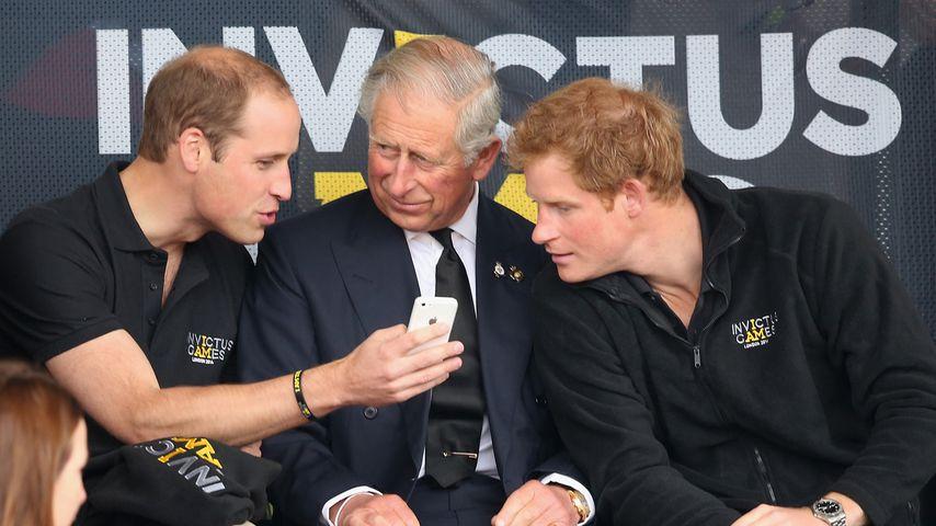 Prinz William, Prinz Charles und Prinz Harry bei den Invictus Games 2011