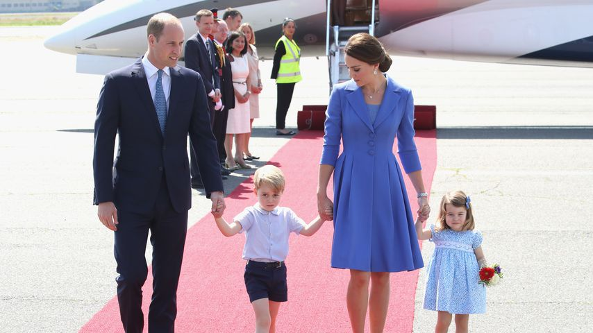 Prinz William, Prinz George, Herzogin Kate und Prinzessin Charlotte in Berlin