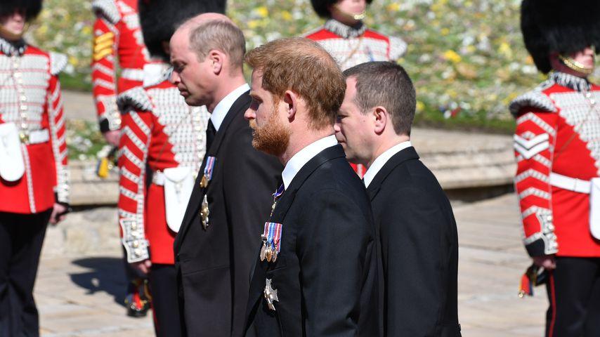 Prinz William, Prinz Harry und Peter Phillips