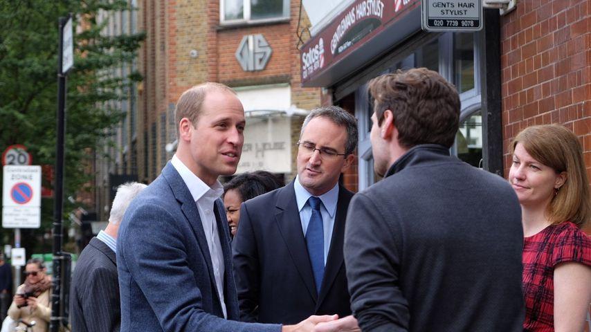 Prinz William bei dem Besuch eines Obdachlosenheims