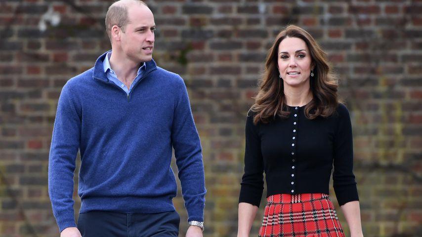 Prinz William und Herzogin Kate am Kensignton-Palast