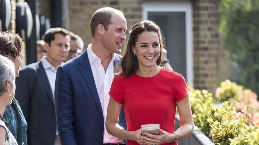 Prinz William und Herzogin Kate auf dem Weg zum Besuch einer Telefonseelsorge in London