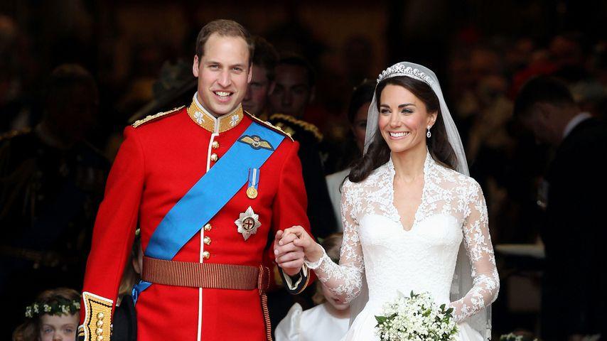 Prinz William und Herzogin Kate auf ihrer Hochzeit am 29. April 2011