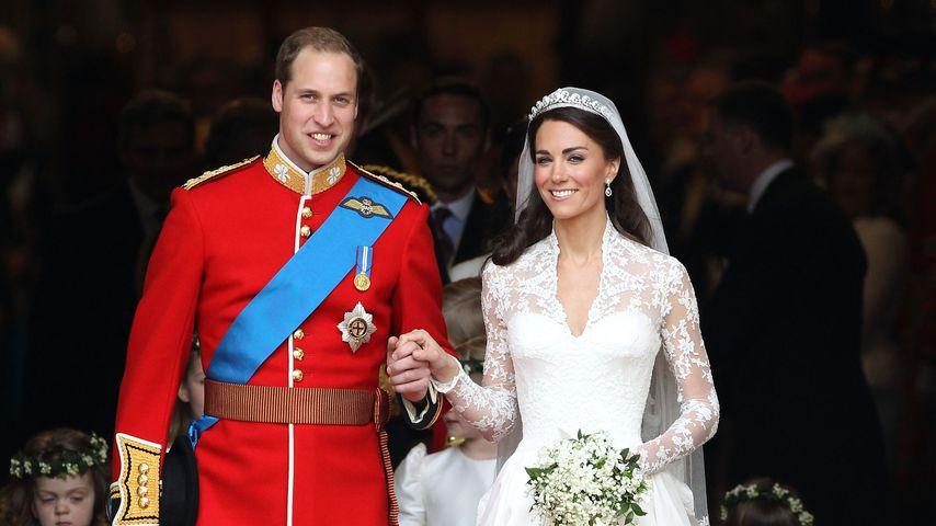 Prinz William und Herzogin Kate bei ihrer Hochzeit 2011