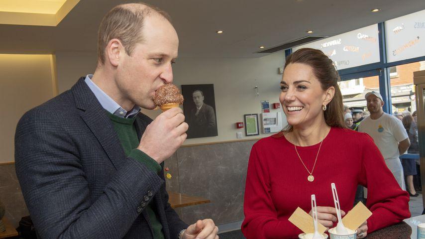"""Prinz William und Herzogin Kate besuchen """"Joes Ice Cream"""" in Swansea im Februar 2020"""