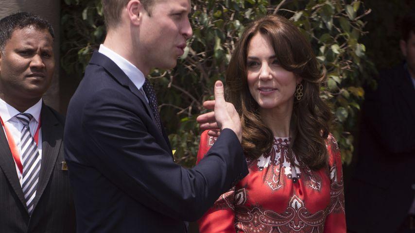 Herzogin Kate: Über 7000 km von George & Charlotte entfernt