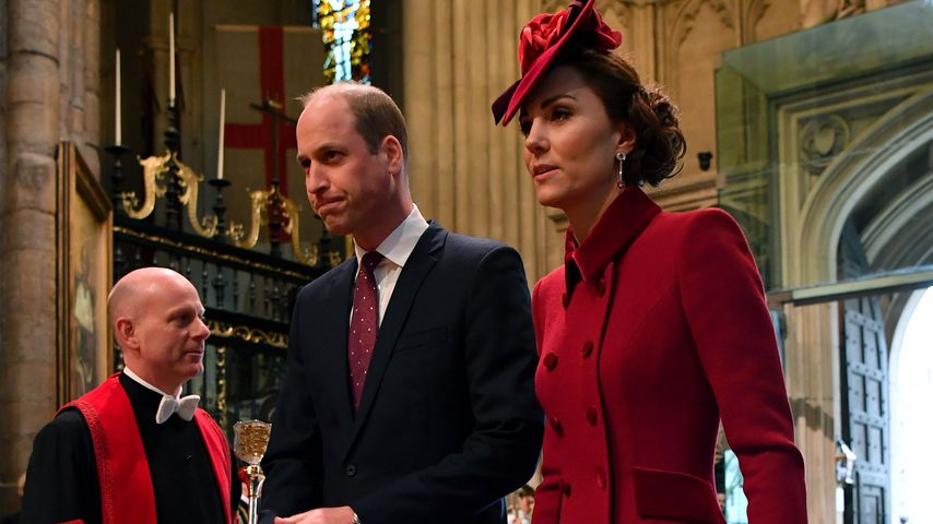 Prinz William und Herzogin Kate in der Westminster Abbey, 2020