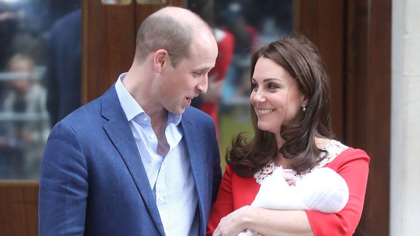 Prinz William und Herzogin Kate mit ihrem Sohn Prinz Louis im April 2018