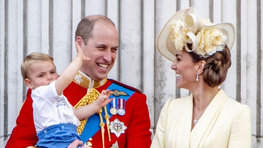 Prinz William und Herzogin Kate mit ihren Kindern Louis, George und Charlotte, Juni 2019