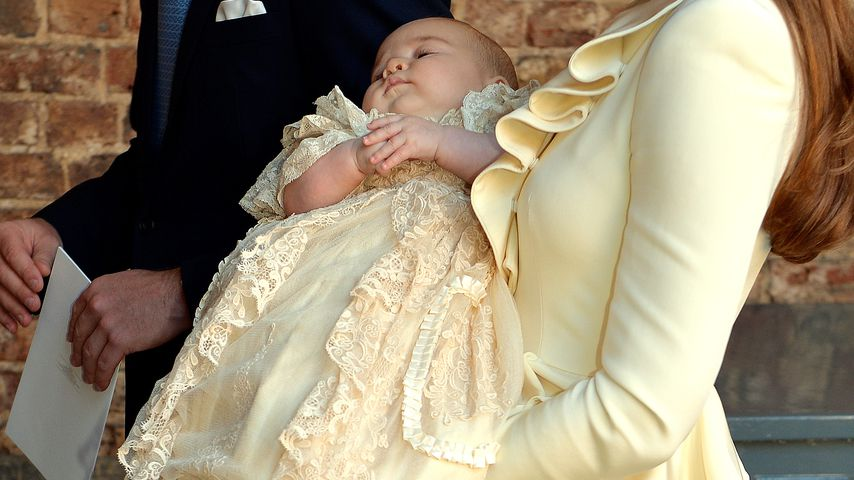 Prinz William und Herzogin Kate mit Prinz George 2013