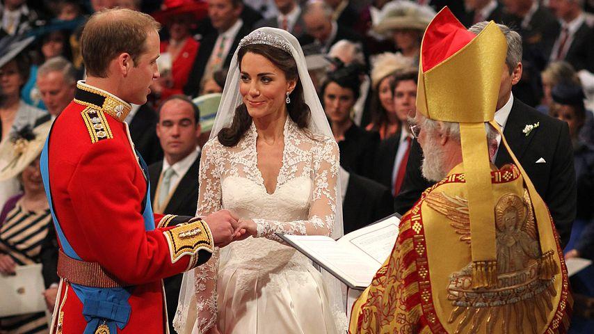 Prinz William und Herzogin Kate bei ihrer Hochzeit im April 2011 in London