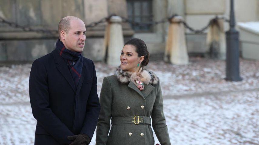 Prinz William und Prinzessin Victoria in Stockholm
