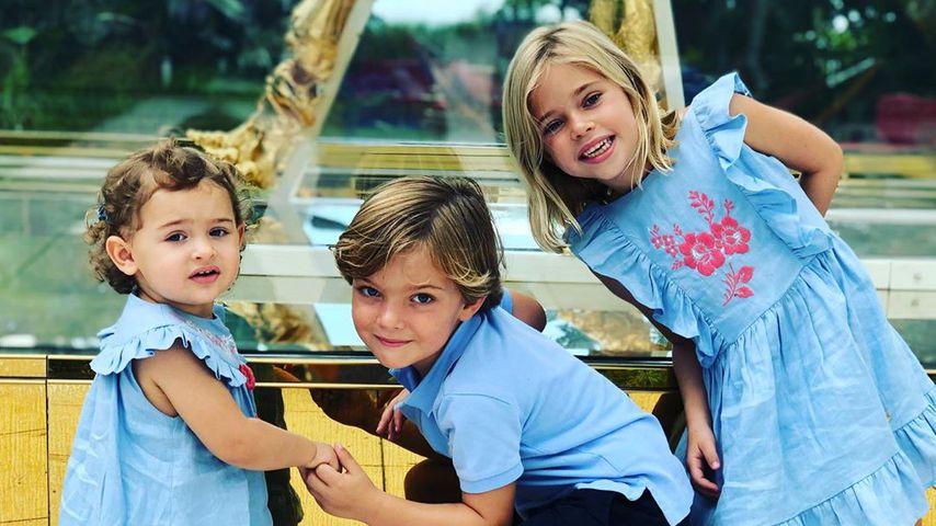 Prinzessin Adrienne, Prinz Nicolas und Prinzessin Leonore von Schweden
