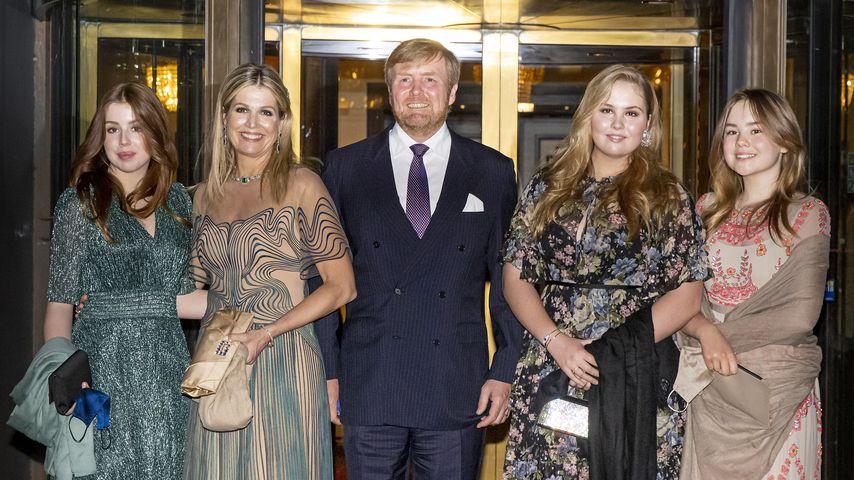 Prinzessin Alexia, Königin Máxima, König Willem-Alexander, Prinzessin Amalia und Prinzessin Ariane