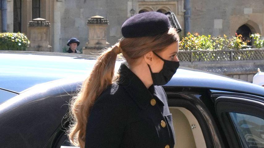 Prinzessin Beatrice im April 2021 in Windsor