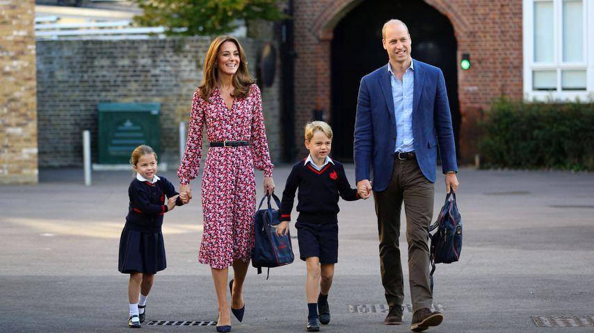 Prinzessin Charlotte, Herzogin Kate, Prinz George und Prinz William, September 2019