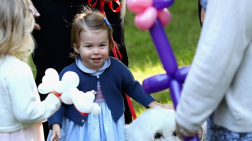 Prinzessin Charlotte mit Hund Moose