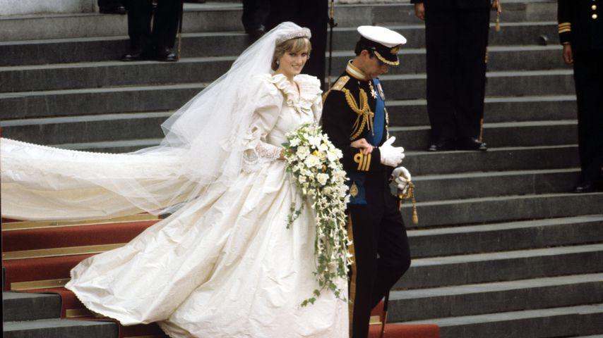 Prinzessin Diana und Prinz Charles an ihrem Hochzeitstag