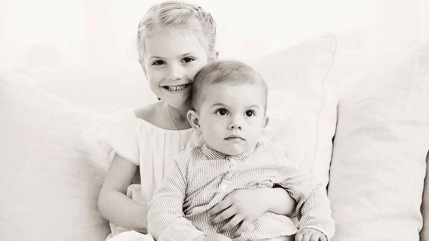 Prinzessin Estelle und Prinz Oscar von Schweden im Juni 2017