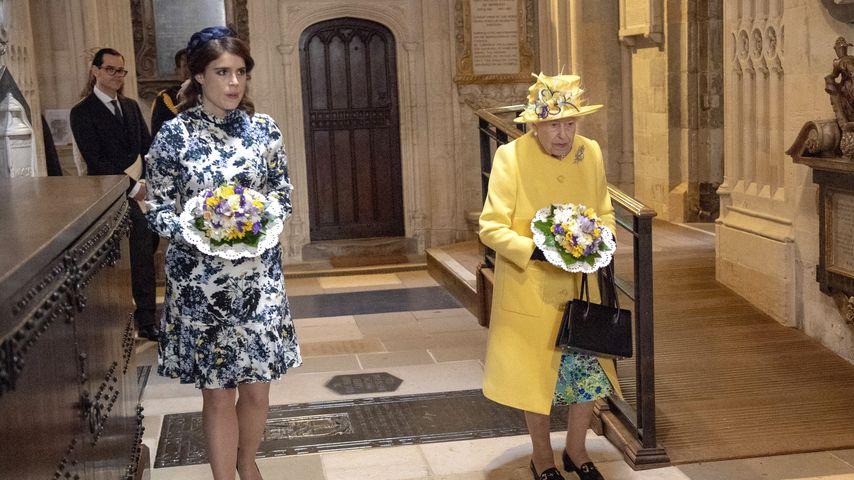 Prinzessin Eugenie und die Queen, April 2019