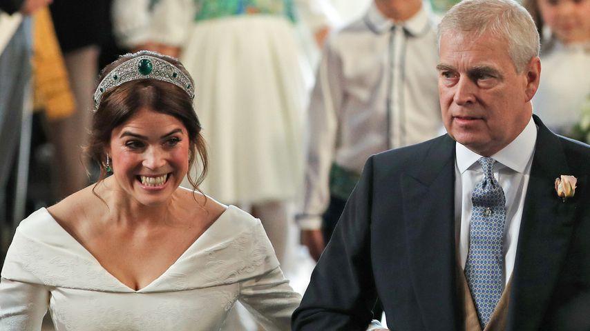 Prinzessin Eugenie mit ihrem Vater Prinz Andrew im Oktober 2018