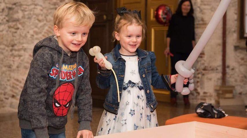 Prinzessin Gabriella und Prinz Jacques von Monaco an ihrem vierten Geburtstag