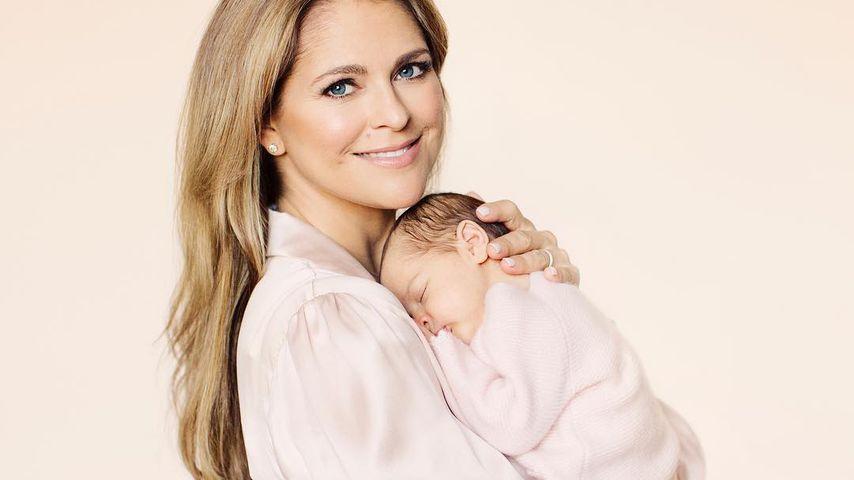 Prinzessin Madeleine von Schweden und ihre Tochter Adrienne im April 2018