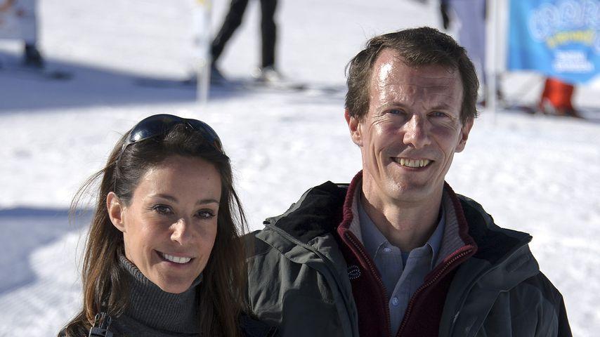 Prinzessin Marie und Prinz Joachim von Dänemark beim Ski-Urlaub in der Schweiz