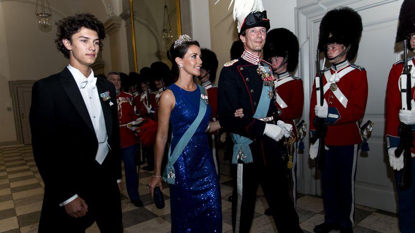 Prinzessin Marie und Prinz Joachim von Dänemark mit ihrem Sohn Prinz Nikolai