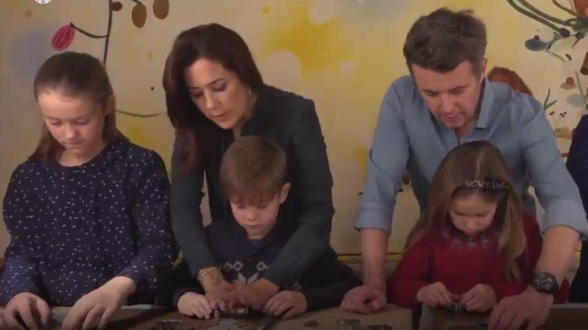 Prinzessin Mary und Prinz Frederik mit ihren Kindern im Dezember 2018