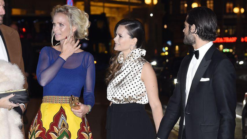 Frida Vesterberg, Prinzessin Sofia und Prinz Carl Philip von Schweden in Stockholm