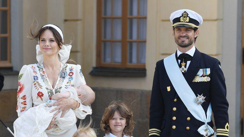 Prinzessin Sofia und Prinz Carl Philip von Schweden mit ihren Kindern Julian, Alexander und Gabriel