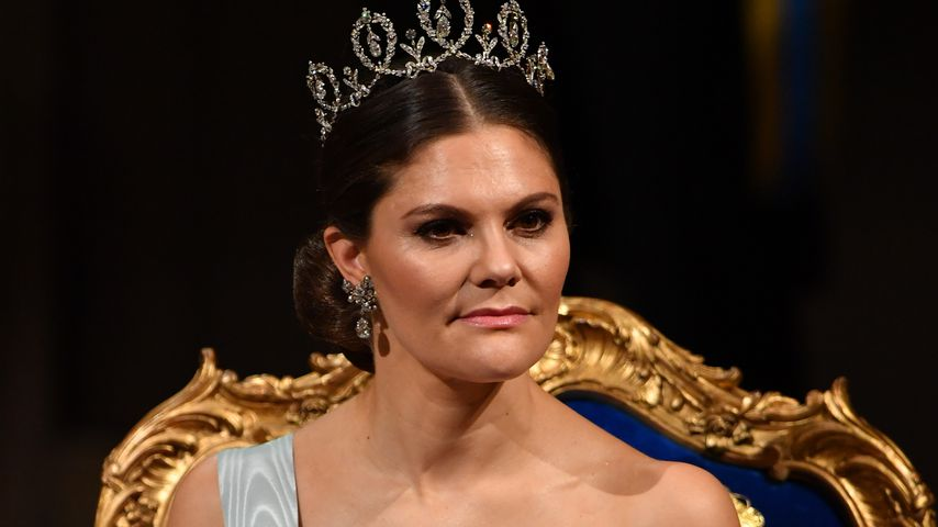 Prinzessin Victoria bei der Verleihung des Nobelpreises in Stockholm