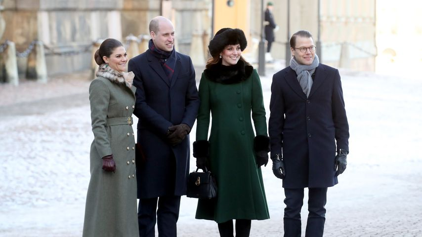 Prinzessin Victoria, Prinz William, Herzogin Kate und Prinz Daniel