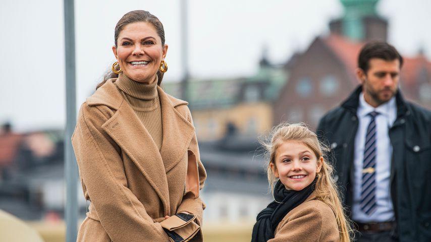 Putzig: Prinzessin Estelle und Mama Victoria im Partnerlook
