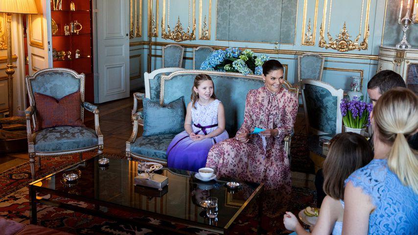 Prinzessin Victoria von Schweden mit Emilia und ihrer Familie im Februar 2020